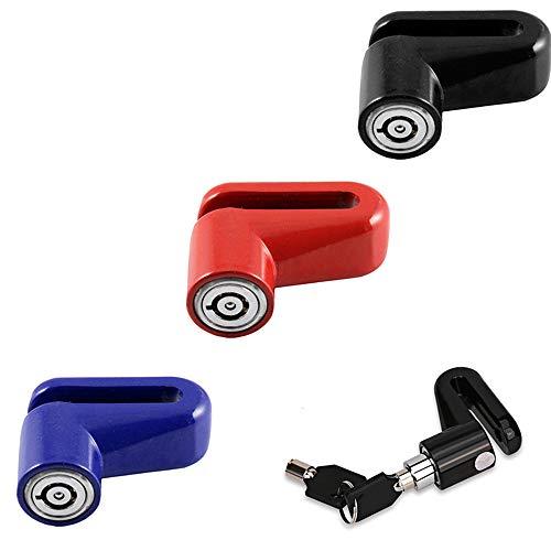 Security - Candado de disco para motocicleta y scooter con 2 llaves, color negro