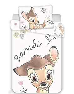 Juego de ropa de cama para bebé (100 x 135 cm y 40 x 60 cm), con diseño de Bambi