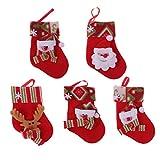 Vosarea 12pcs Mini Christmas Socks Xmas Tree Fireplace Hanging Decorations Candies Gifts Bags