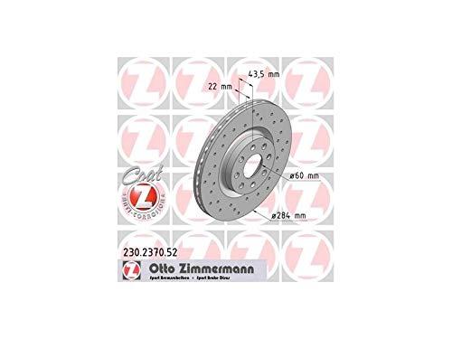 Zimmermann 230.2370.52Disco de freno, Delantero, perforado, Sport Coat Z