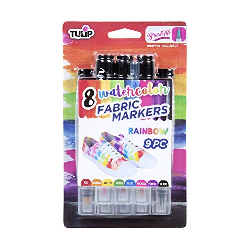 Tulip Watercolor Fabric Markers, Rainbow