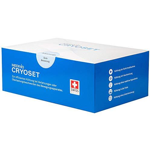 MEDIVID CRYO Therapieset inkl. Testbandage - alles für die Kühltherapie mit MEDIVID CRYO - Komplettset mit CRYO Konzentrat, Bandage, Fixierwrap, Mischbox - Verletzungen optimal kühlen