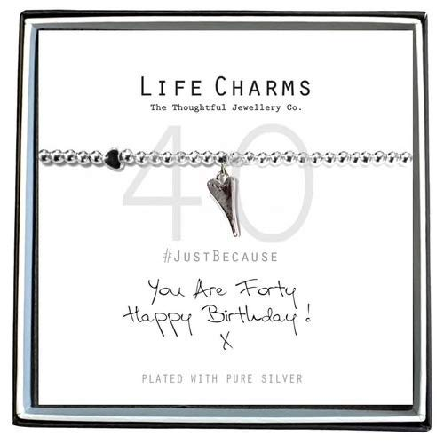 Life Charms Happy 40th Bracelet