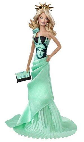 Barbie Mattel - T3772 Muñecas del Mundo Monumento - Estatua de la Lib