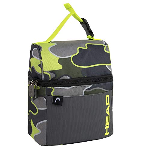 Yellow Camo Men's Lunch Box Insulated for Work, School, Travel - Wide Open Clip Lunch Bag for Boys, Men