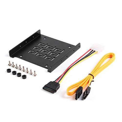 """SALCAR Châssis pour 2.5"""" Montage HDD/SSD Adaptateur Rack Mobile Support de Porte-Caddy Rails de Montage INCL. Vis et câble SATA"""