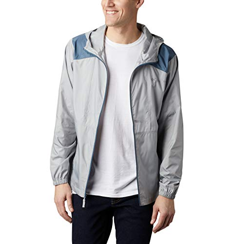 Columbia Herren Windbreaker Flashback, Grau/Blau (Columbia Grey, Mountain), M