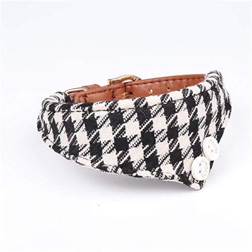 Hondenhalsband wit zwart driehoek rooster sjaal hondenhalsband Gentleman Soft Tresor hondenhalsband voor alle seizoenen ademend zacht gevoerd licht gezellig Outdoor A, 1.3*34CM