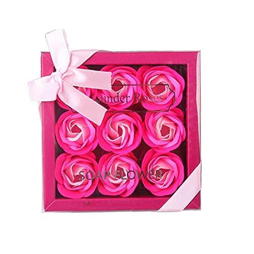 GGOOD 1Pollo Floral Stepent Bath Rose Flower Pétalos Forma Planta Planta Aceite Esencial Rose Sweet Regalo Set para el Día de la Madre (Rosy) Productos saludables