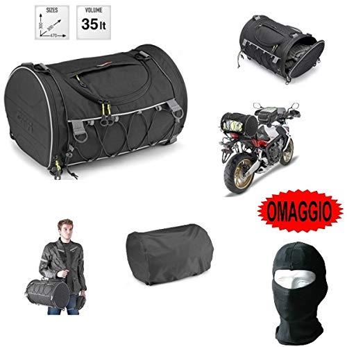 Voor Honda CB 350 bakoven rugzak Givi EA107B 35LT rol voor zadel motorfiets scooter universele bevestiging met riemen en veren 300 x 300 x 470 mm