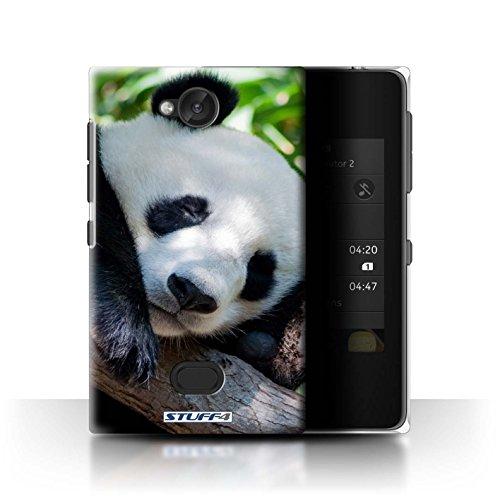 Custodia/Cover Rigide/Prottetiva STUFF4 stampata con il disegno Animali selvatici per Nokia Asha 503 - Panda