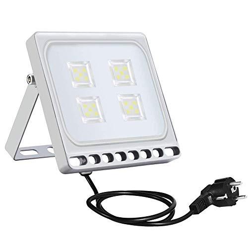Sararoom 20W Foco Proyector LED Ultra Plano,IP65 Impermeable Floodlight,1600LM Bombillas Reflector LED con enchufe,blanco frío,6500K,para jardín,terraza,fábrica,estadio