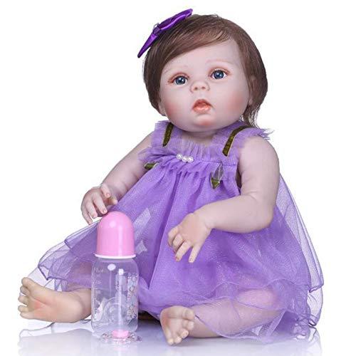 SERBHN 22 Pulgadas Bebé Reborn Muñeca Simulación Simulación Silicona Bebé Muñecas Bebé Muñecas Juguetes para Niños para Niños Cumpleaños, Día De Los Niños Regalo-Default