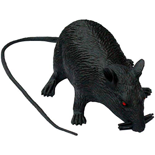 Böse Ratte Deko Scherzartikel Dekoration oder Partygag Rattus Rattus