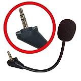 Microfono di ricambio Boom Mic 3,5 mm compatibile per cuffie da gioco Turtle Beach Ear Force Xbox One PS4 Nintendo Switch Mac PC Gaming cuffie MIC-3.5-2017