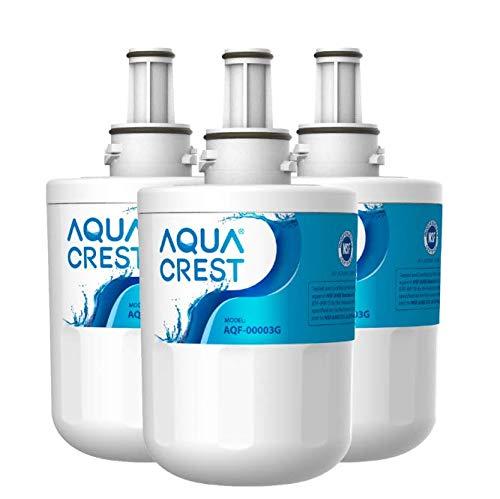AQUACREST DA29-00003G Refrigerator Water Filter, Replacement for Samsung DA29-00003G, DA29-00003B, DA29-00003A, Aqua-Pure Plus, HAFCU1, RFG237AARS, FMS-1, RS22HDHPNSR, RSG257AARS, WSS-1 (Pack of 3)