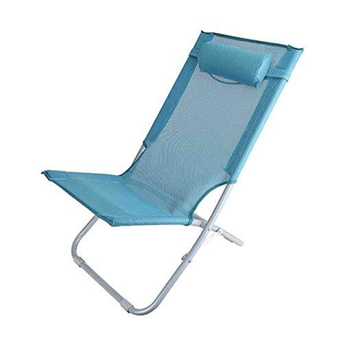 WUTONG Stressless Sillón reclinable Tumbonas y sillones reclinables de jardín Sillas Plegables Acolchadas Silla de Playa cómoda para Exteriores e Interiores, Dos tamaños