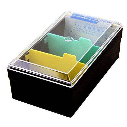 ライオン事務器 名刺整理箱 500枚 No.51-BK 黒