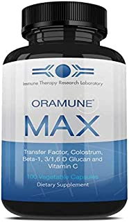 Immune Therapy Research Lab's OraMune Max | 100% Natural Dietary Supplement with Colostrum and Transfer Factor