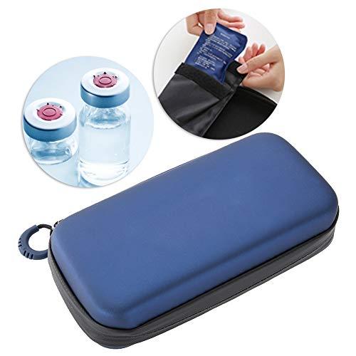 Insulin Cooler Bag, Portable Waterproof Diabetic Organizer Travel Cooling Case Medical Insulation Bag 19x4.5x10cm/7.5x1.8x3.9inch