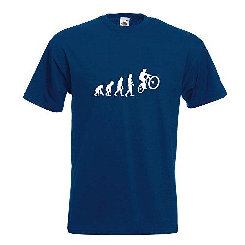 Evoluzione Ciclismo in Mountain Bike T-Shirt in 15 Diversi Colori - Man Print Fun Pattern Modello in Cotone S M L XL XXL