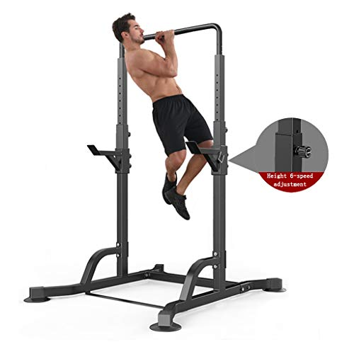 Squat Rack Bench Press Rack Horizontal Bar Home Indoor Weightlifting Pull-up Exercise Fitness Equipment Stretching Training Exercise (Color : Black, Size : 100 * 120 * 220cm)