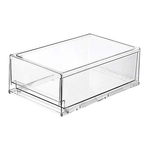 Floepx Kitchen Convenience - Caja organizadora transparente para frigorífico de alto rendimiento tipo cajón para congelador, encimeras de cocina, organizador duradero