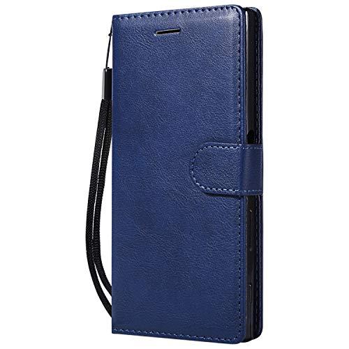 Hülle für Sony Xperia XZ/XZs Hülle Handyhülle [Standfunktion] [Kartenfach] Tasche Flip Hülle Cover Etui Schutzhülle lederhülle flip case für Sony Xperia XZ/XZs - DEKT051700 Blau