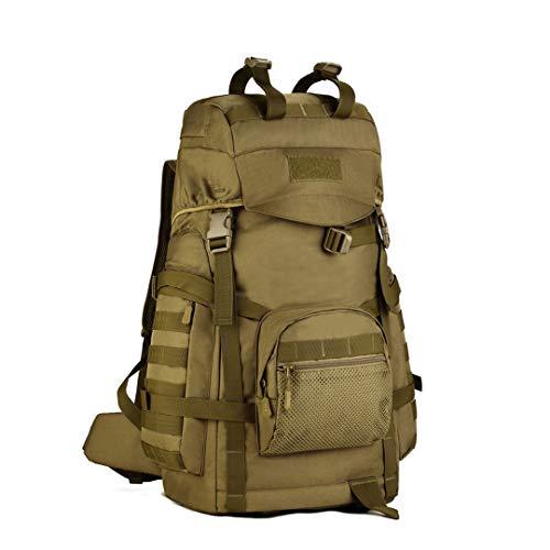 Zaino da Campo dell'Esercito Militare Zaino tattico in Nylon da 60 Litri Zaino Alto Comfort Arrampicata Escursionismo CB 50-70L