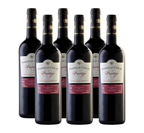 Vino tinto-Bordeaux vino Prestige-Domaine du Cassard-Medalla de oro en el concurso Terre de Vin 2019- Caja de 6 botellas (6X750 ml)