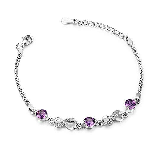L.J.J S925 Sterling Silber Kristall Digital Armband Zirkon Schmuck Mode Valentinstag Thanksgiving Geschenk