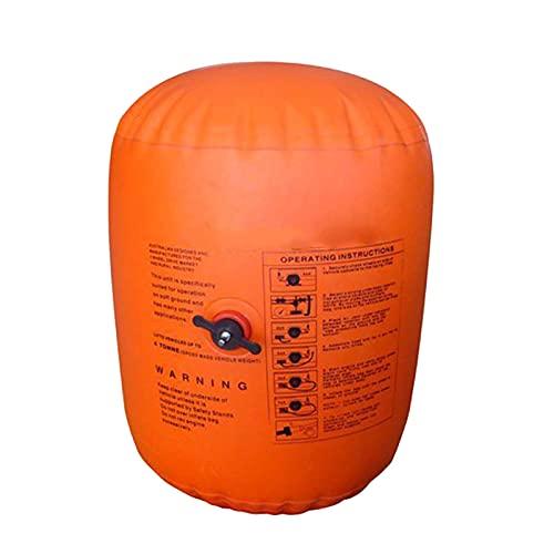 SSYFC Gato de aire de escape de 4 toneladas, gato de aire inflable, portátil, elevador rápido inflado por motor de coche e inflador de neumáticos/compresor de aire para vehículo coche, camión rescate