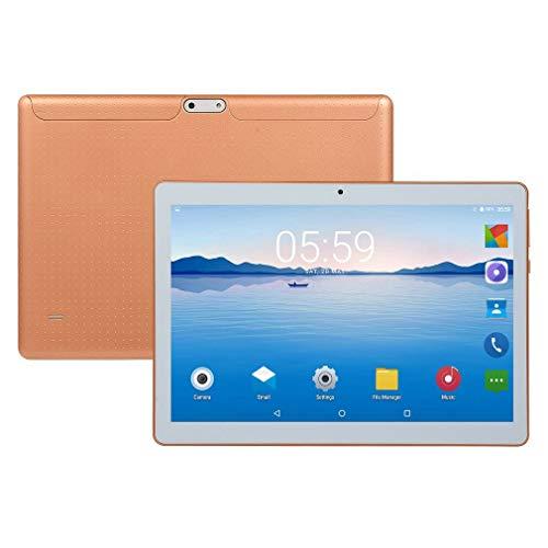 YXDS Tableta 10.1 Pulgadas HD Pantalla Grande Android 8.10 Versión Tableta portátil de Moda 8G + 64G Tableta Dorada