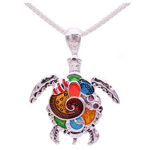 YangQianWen Couleurs Arco Mignon de Tortue de en Forme de Collier Pendentif en Alliage Bijoux para Damas Cadeaux