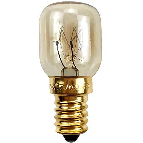 BrightBulb Ampoules Four E14 15W 25W 220V Pour Les Applications Hotte Réfrigérateur Four À Micro-Ondes-D'or-25W