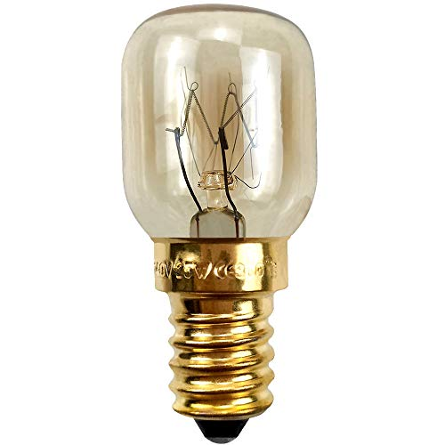 BrightBulb Ampoules Four E14 15W 25W 220V Pour Les Applications Hotte Réfrigérateur Four À Micro-Ondes-D'or-25W