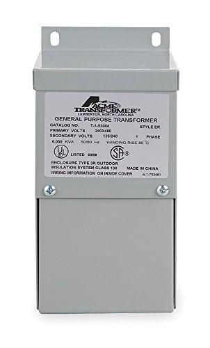 Acme Electric TF279262S Dry Type Distribution Transformer Export Model, 190V/208V/220V/240V x 380V/416V/440V/480V Primary Volts, 120V/240V Secondary Volts, 3 kVA