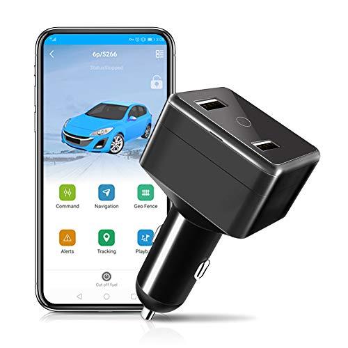 Jueapu Der Fahrzeug GPS Tracker Echtzeit Ortung mit 2 Monate Datentarif Unterstützung durch eine kostenfreie App einem 10 Sekunden GPS-Update Benutzbar für Auto Taxi LKW-Ortung Diebstahl Sicherung