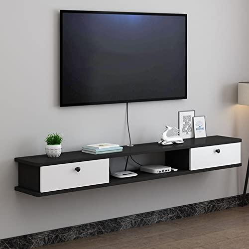 Soporte de TV flotante Estante de componentes Consola multimedia montada en la pared Centro de entretenimiento Juegos Estante de almacenamiento grande Unidad de gabinete Estantería de audio y video