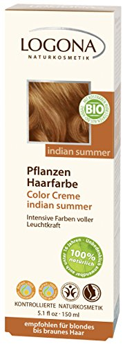 LOGONA Naturkosmetik Pflanzenhaarfarbe Creme 210 Indian summer 1x(150g)