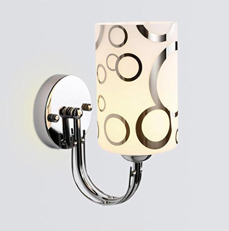 @Wandleuchte Wandlampe - Moderne minimalistische Schlafzimmer Wand Lampe Glas Wohnzimmer Lampe LED Wand Lampe Hotelzimmer Leselampe Nachttischlampe (Einzel- und Doppelkopf) Wandlampe Wandlampe
