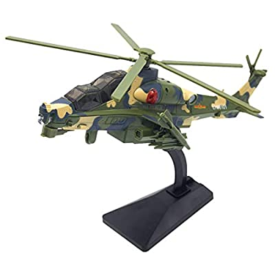 HMANE Military Alloy Pull Back Simulation Fighter Armed Polece Batrider 2000 Model Educational Toy Sound Lighting - Green