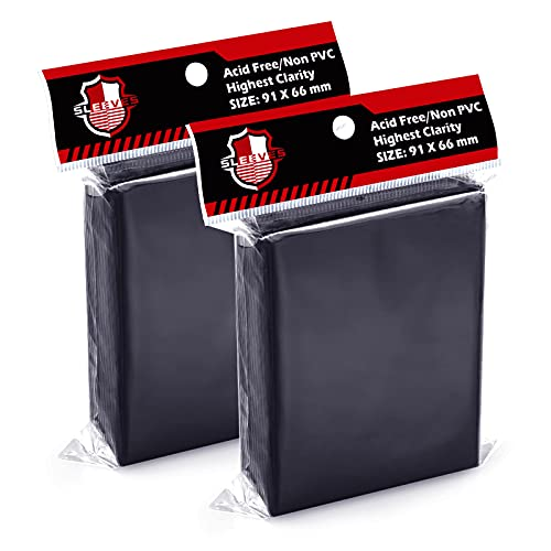 200 Counts Top Loaders Card Sleeves for Trading Card, Penny Sleeves Deck Protectors Compatible with Baseball Card, Sports Cards, MTG, Yugioh Card