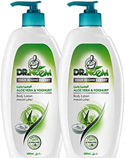 Dr. Neem Aloe Vera and Yogurt Body Lotion- Pack of 2PCs (2 x 400ml)