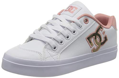 DC Shoes Chelsea Plus Se Sn, Sneakers Basses Femme, Blanc (White/Pink Wpn), 39 EU