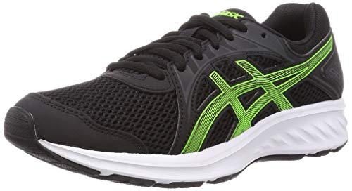 ASICS Mens Jolt 2 Running Shoe, Black/Green Gecko,44 EU