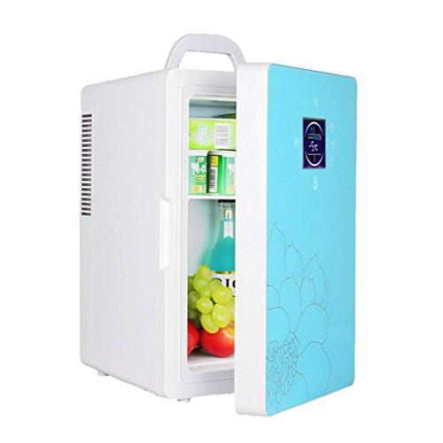 JGWJJ 16L 220 v 12 v Dual-Core LCD Affichage Mini Voiture Réfrigérateur ABS Multi-Fonction Accueil Refroidisseur Congélateur Chauffe Portable Auto Réfrigérateur Congélateur (Color : Blue)