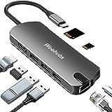 USB C Hub, 8-in-1 USB C Adapter with 4K USB C to HDMI, USB C Charging, Gigabit Ethernet,3 USB 3.0, SD/TF Card...