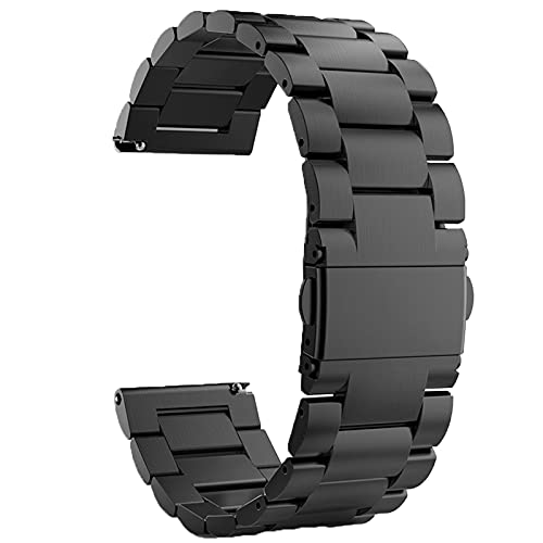 LvBu Armband Kompatibel mit Fossil Q Explorist, Classic Edelstahl Uhrenarmband für Fossil Q EXPLORIST Gen 3 / Q EXPLORIST HR Gen 4 Smartwatch (Schwarz)