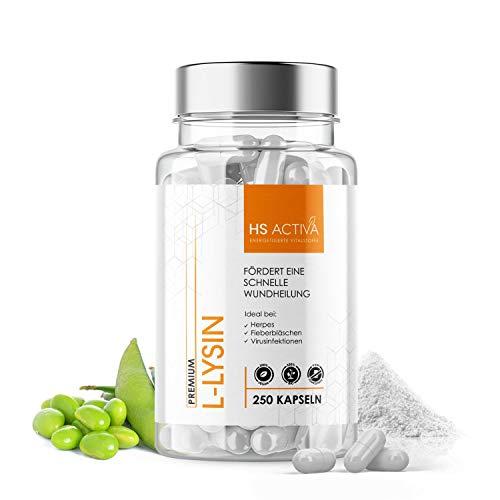 L-Lysin Monohydrochlorid | 500 mg pro Kapsel | 250 Kapseln | Hochdosierte essentielle Aminosäure | OHNE künstliche Zusätze, ohne Gentechnik